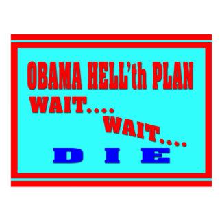 Anti Obama election memorabilia Postcard