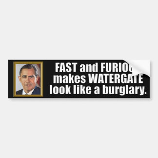 Anti Obama Fast and Furious Bumper Sticker