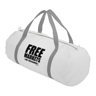 Anti-Obama - Free Markets not Freeloaders Gym Duffel Bag