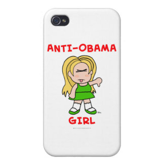 anti-obama girl png covers for iPhone 4
