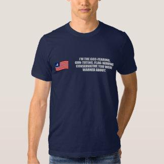 Anti-Obama - God fearing conservative T-shirt