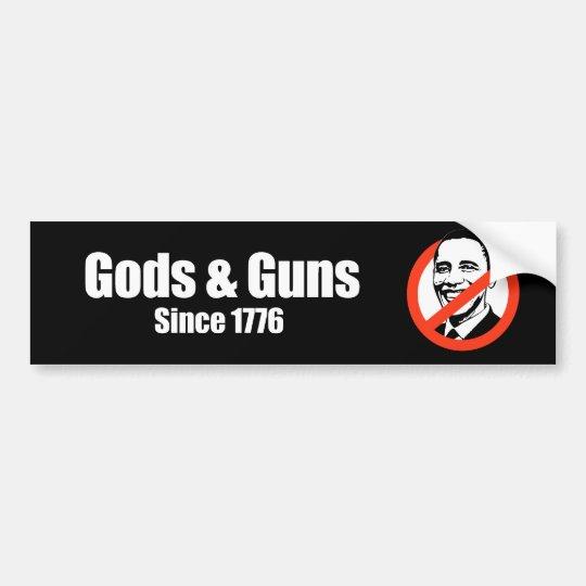 Anti-Obama - gods and guns since 1776 Bumper Sticker