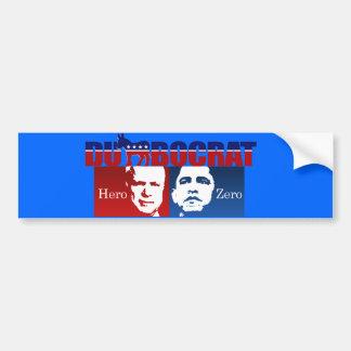 Anti-Obama - Hero vs. Zero Bumper Sticker