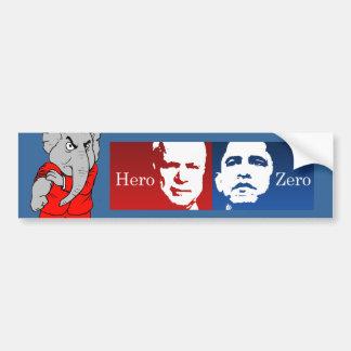 Anti-Obama - Hero vs. Zero Bumper Stickers