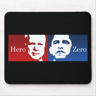 Anti-Obama - Hero vs. Zero Mouse Mat