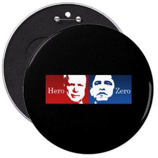 Anti-Obama - Hero vs. Zero Pin