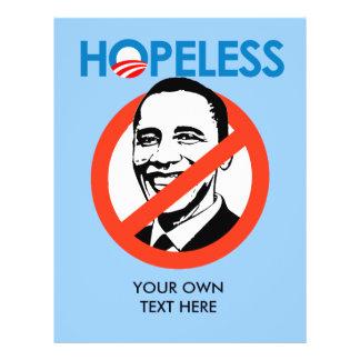 Anti-Obama - HOPELESS Personalized Flyer