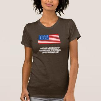 Anti-Obama - If Obama screws up healthcare Bumpers Shirt