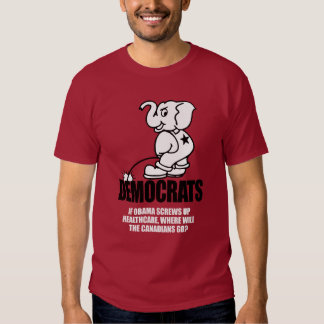 Anti-Obama - If Obama screws up healthcare Bumpers T-shirt