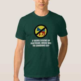 Anti-Obama - If Obama screws up healthcare Bumpers Tee Shirts