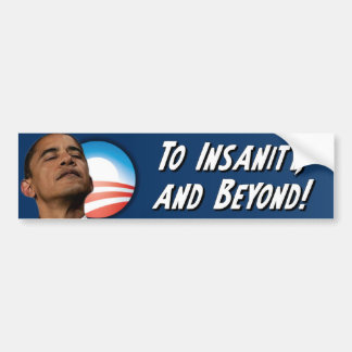 Anti Obama - Insanity Bumper Sticker