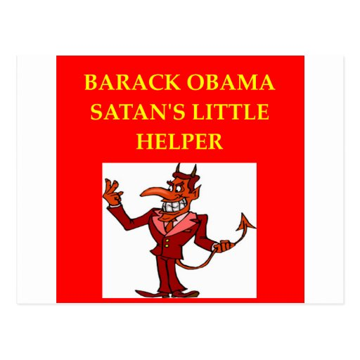 anti obama joke post cards