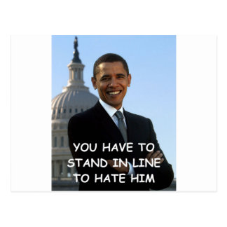 anti obama joke postcard