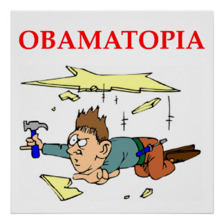 anti obama joke print