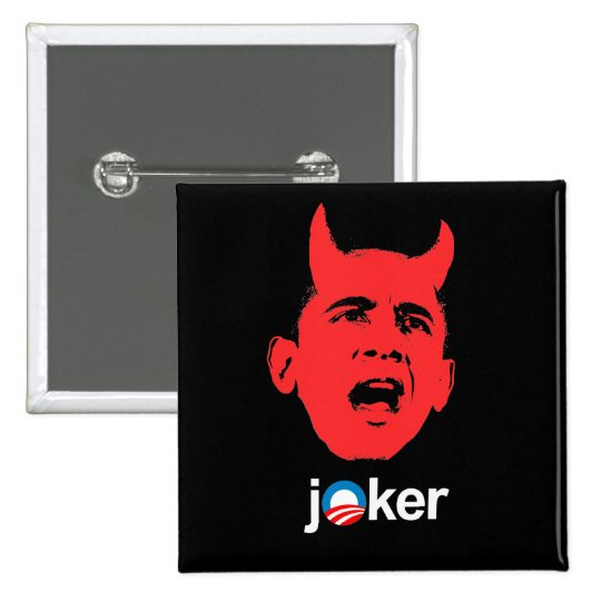 Anti-Obama - Joker 15 Cm Square Badge