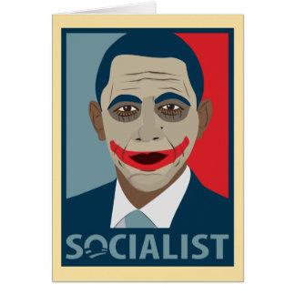 Anti-Obama Joker Socialist Card