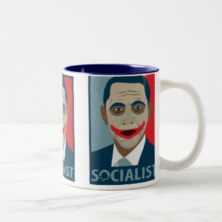 Anti-Obama Joker Socialist Two-Tone Coffee Mug