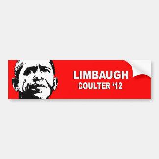 Anti-Obama - Limbaugh Coulter '12 Bumper Sticker