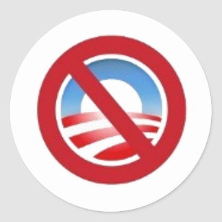 Anti-obama logo sticker