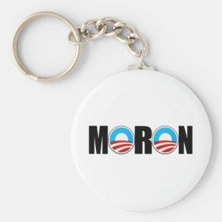 Anti Obama moron Basic Round Button Key Ring
