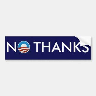 "Anti-Obama ""No Thanks"" Bumper Sticker"