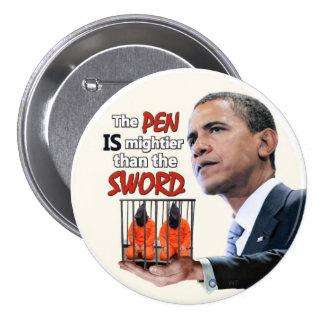 Anti-Obama: Pen vs. Sword 7.5 Cm Round Badge