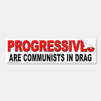 "Anti Obama ""Progressives Are Commies"" Stickers"