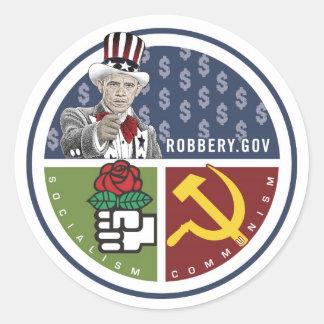 Anti Obama - ROBBERY.GOV Classic Round Sticker