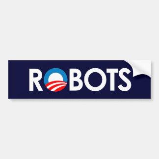 Anti-Obama - Robots white Bumper Sticker