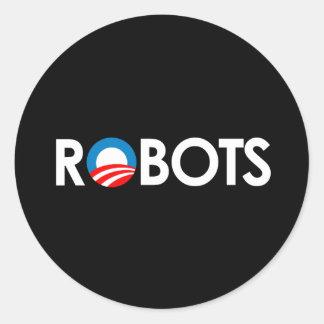 Anti-Obama - Robots white Round Sticker