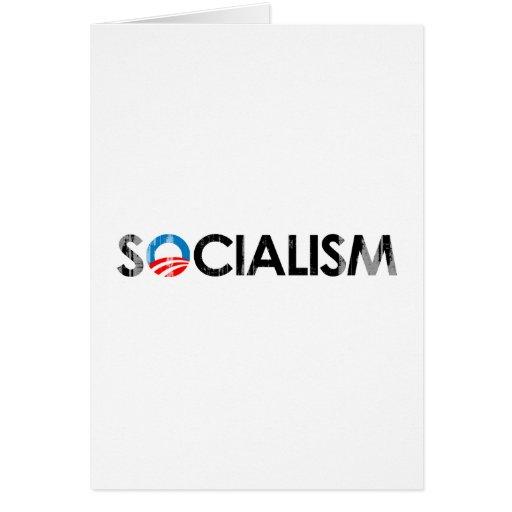 ANTI-OBAMA - SOCIALISM BLACK- Faded.png Greeting Card