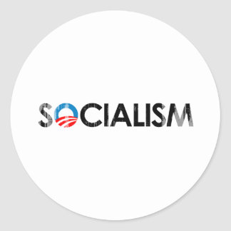 ANTI-OBAMA - SOCIALISM BLACK- Faded.png Sticker