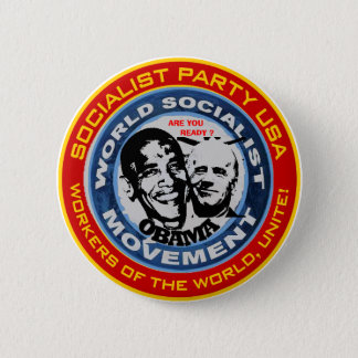 anti obama socialist jugate 6 cm round badge