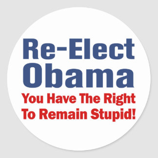 Anti Obama Classic Round Sticker