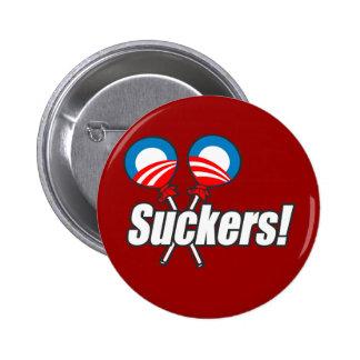 Anti-Obama - Suckers 6 Cm Round Badge