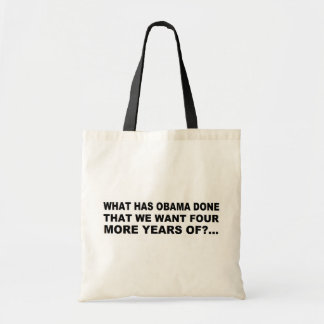 Anti - Obama T-shirt and gift design Canvas Bags