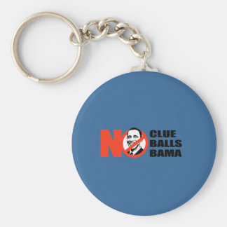 Anti-Obama T-shirt - No clue. No Balls. Nobama Key Ring