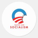 Anti-Obama - Tastes like Socialism T-SHIRT Classic Round Sticker