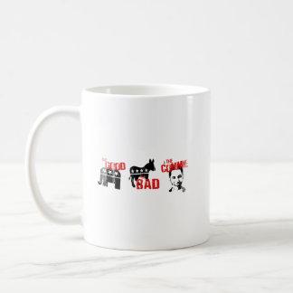 ANTI-OBAMA - THE GOOD. THE BAD. THE COMMIE- Faded. Basic White Mug