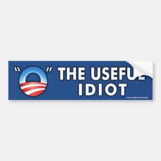 """anti Obama """"The Useful Idiot"""" Sticker Bumper Sticker"""