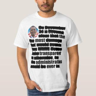 Anti Obama Transparent - Election 2012 Tshirt