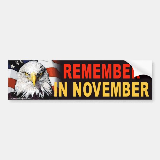 "anti Obama ""USA Eagle Remember"" sticker Bumper Sticker"