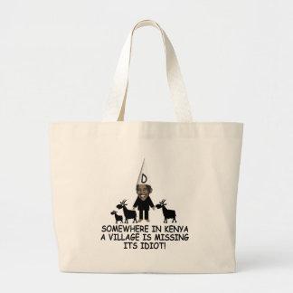 Anti Obama,village idiot Tote Bags