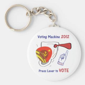 Anti Obama Voting Machine Light Background Keychains