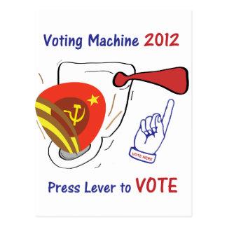 Anti Obama Voting Machine Light Background Postcard