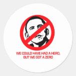 Anti-Obama - We got a zero Sticker