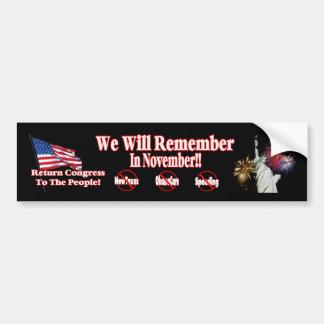 Anti ObamaCare, New Taxes & Spending Bumper Sticker