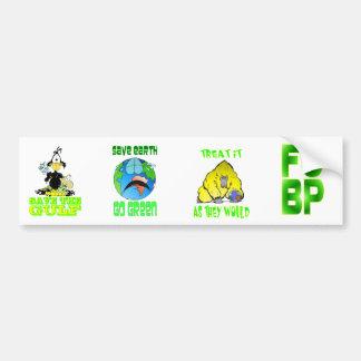 ANTI-OIL / Pollution bumper sticker