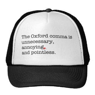 Anti-Oxford Comma Cap