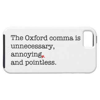 Anti-Oxford Comma iPhone 5 Covers